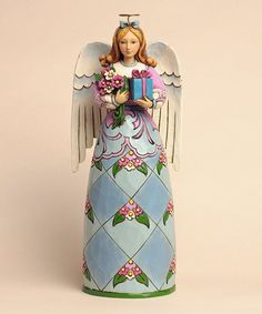 Love this Birthday Angel Figurine by Jim Shore on #zulily! #zulilyfinds