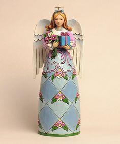 Love this Birthday Angel Figurine by Jim Shore on #zulily! #zulilyfinds