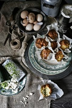 Plates and Platters: Olive oil, feta and zucchini muffins