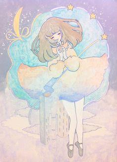 mhnmimi:    名前のない子(2011.12)/A girl without a name(2011.12)  skm recordsさんのコンピレーションに参加させて頂いたときの絵です。  Who am I?