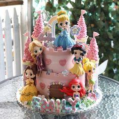 30 Inspirações de Bolos Princesas Disney - Cantinho Art's & Magic