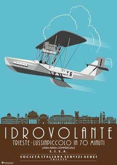 #Vintage #Poster #SISA S.I.S.A. #Trieste #Idroscalo #Idrovolante #Seaplane Trieste, Vintage Advertisements, Vintage Ads, Tarzan, Italian Posters, Vintage Travel Posters, Poster Vintage, Commercial, Old Ads