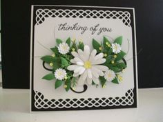 Hand made card with punched border top and bottom. Love this card