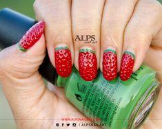 Strawberry Nails Tutorial by @Alpsnailart