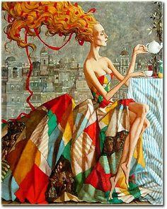 Beautiful Women by Roman Zaslonov Russian Artist