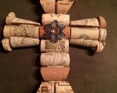 Wine Cork Cross by EndlessRecyclables on Etsy