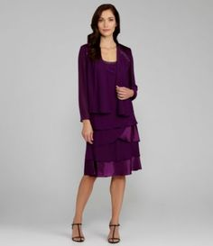 S.L. Fashions Beaded Jacket Dress | Dillards.com
