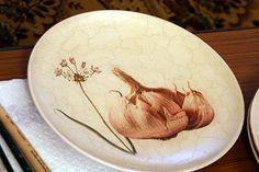 Тарелка с кракле (шеллак + гуммиарабик) - МК от Елены Алексеевой