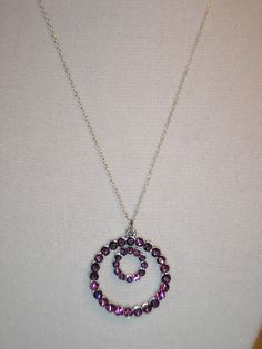 Genuine swarovski purple crystal double by CreationsbyMaryEllen, $12.50