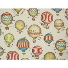 vintage looking hot air balloon circus paper - perfect!