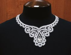 Russian bobbin lace. Necklace. #beauty #design #lace #Russian