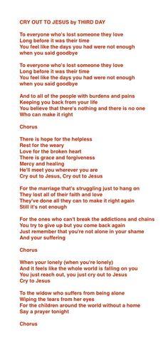 Third Day - Cry Out To Jesus Lyrics | MetroLyrics