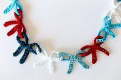 Crochet Bow Garland