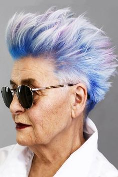 Extremely Short Edgy Pixie #pixie #layeredhair #bluehair ❤️ Looking for cool pixie haircuts for women over 50? Best hairstyles for older women with short grey hair are here. These 2018 trends flatter all the face shapes! ❤️ See more: http://lovehairstyles.com/pixie-haircuts-for-women-over-50/ #lovehairstyles #hair #hairstyles #haircuts