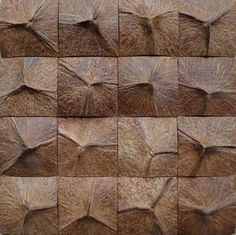 Wood is the principal element employed in rural houses. Whenever natural brick walls are offered in a home, you must always ask… Wood Mosaic, Mosaic Tiles, Interior Design Degree, Interior Rendering, Coconut Shell Crafts, Tile Patterns, Wall Sculptures, Wood Wall Art, Wood Wall Tiles