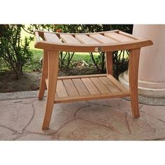 Shop for Teak Shower/Pool Spa Bench. Get free delivery at Overstock.com - Your Online Bath