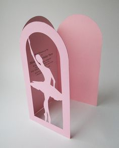 Ballerina Birthday Invitations, Papercut by MamaTita. $4.00, via Etsy.
