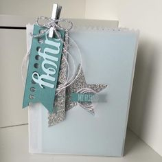 Mini Treat Bag thinlit dies box with four simple cards by Rhoda MacPherson UK demo