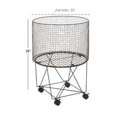 Cole & Grey Storage Metal Basket & Reviews | Wayfair