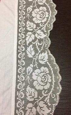 Karoo Vintage MAL Crochet pattern by Jen Tyler Crochet Bedspread Pattern, Crochet Lace Edging, Crochet Curtains, Crochet Tablecloth, Crochet Chart, Thread Crochet, Love Crochet, Crochet Flowers, Knit Crochet
