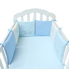 Baby Cot Bumper Bed Bumper Crib Protector Pads Cotton Bedding Safety Rail - Baby Bed - Ideas of Baby Bed - Baby Cot Bumper Bed Bumper Crib Protector Pads Cotton Bedding Safety Rail Price : Cot Bed Bumper, Bumper Pads For Cribs, Baby Crib Bumpers, Baby Bumper, Baby Cribs, Crib Mattress, Blue Bedding Sets, Baby Crib Bedding Sets, Baby Nursery Bedding
