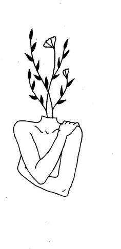 a head full of dark Cool Art Drawings, Pencil Art Drawings, Art Drawings Sketches, Tattoo Sketches, Easy Drawings, Line Drawing Tattoos, Face Line Drawing, Unique Drawings, Minimalist Drawing