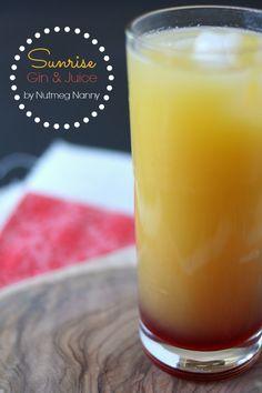 Sunrise Gin and Juice by Nutmeg Nanny