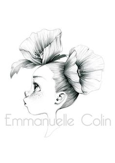 emmanuelle colin © Signed print of an original drawing in graphite on paper Approximate size Digital print on paper Lana 220 Art Drawings Sketches, Cartoon Drawings, Dibujos Cute, Coloring Book Pages, Pencil Art, Pencil Sketch Art, Art Sketchbook, Cute Art, Art Girl