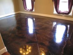 Acid stained flooring