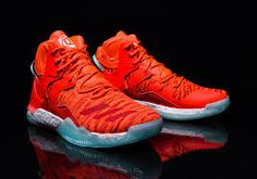 adidas created a Knicks version of the D Rose 7 Boost even before it was official that Derrick Rose had been traded to the team. D Rose Shoes, Bb Shoes, Star Shoes, Shoes Sneakers, Derrick Rose, D Rose 7, Basketball Shoes For Men, Wsu Basketball, Rose Adidas