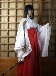 Inuyasha Kikyo Kimono Anime Cosplay Costume Uniform 100% Original Edition Custom Any Size,Classic Japan Anime Cosplay Costume on Etsy, $68.00
