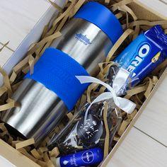 Турмокружка, печенье Oreo,чай и бальзам Nivea - входит в комплект подарка.