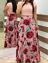 2019 Casual Maxi Dress Bohemian Print Plus Size Boho Summer Robe Women Dress Elegant Long Dresses Beach Clothes Vestidos