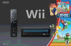 Wii Black Console with New Super Mario Brothers Wii and Music CD Your #1 Source for Video Games, Consoles & Accessories! Multicitygames.com