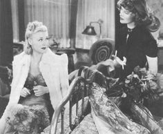 Ginger Rogers with Katharine Hepburn in STAGE DOOR.