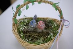 画像 : 【ナチュラル】鳥の巣をイメージしたリングピロー【結婚式】 - NAVER まとめ