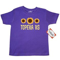 Inktastic Topeka Kansas Sunflower State Toddler T-Shirt Sunflowers Pride Home Hometown Cities City Travel Cute Tees. Gift Child Preschooler Kid Clothing Apparel Hws, Size: 4T, Purple