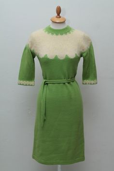 Vintage strikkjole 1960