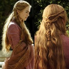 game of thrones hair braid with cute twists