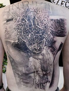 Jesus tattoo by Elvin Yong <> TattooMagz.com