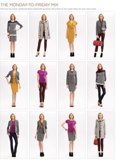 {The Classy Woman} Fashion Friday: A Perfect Ten- 10 essential pieces for fall that create 12 great outfits for work!