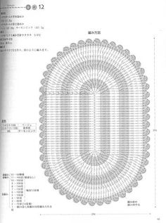 grafico de tapete oval de croche em barbante - Pesquisa Google