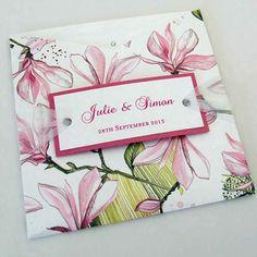 Wallet Wedding Invitation with Sheer Ribbon