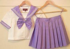 kawaii cute sailor uniform purple cosplay schoolgirl school girl japan japanese fashion