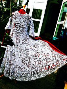 171 - Irish bobbin lace & tape work - COAT -£750