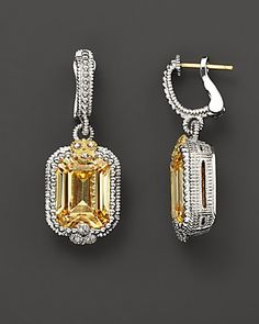 Judith Ripka canary crystals and white sapphires....