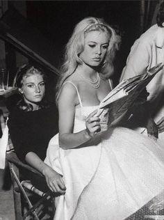 Brigitte Bardot and her sister, 1959