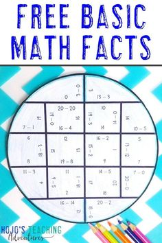 Focus on basic math fact skills in your 1st, 2nd, 3rd, 4th, or 5th grade room with these FREE downloads. Practice addition, subtraction, multiplication, or division. Great for #math centers, review, early finishers, morning work, test prep, and more. Click to get your freebies now. #MathCenters #Addition #Subtraction #Multiplication #Division #HoJoTeaches #Elementary 5th Grade Classroom, Physics Classroom, Classroom Freebies, Classroom Ideas, Math Fact Practice, Third Grade Science, Fourth Grade, Free Activities For Kids, Picture Writing Prompts