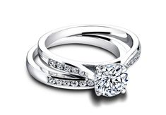 Diamond channel setting engagement ring//Courtesy of Jeff Cooper