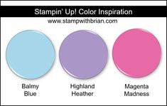 Stampin' Up!'s 2019 Holiday Catalog Designer Series Papers Magenta, Shades Of Purple, Stampin Up, Color Blending, Color Mixing, Color Combinations, Color Schemes, Colours That Go Together, Seasonal Image